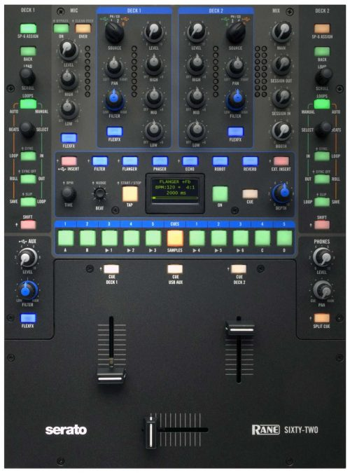 Rane Sixty Two 62 Serato Scratch Live Dj Mixer